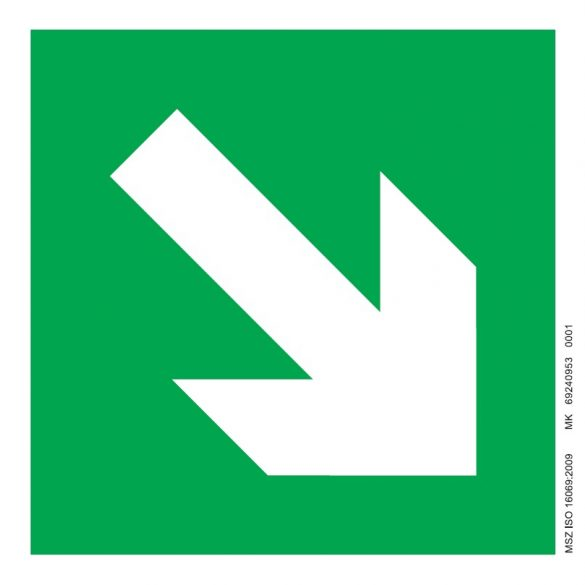 UV Iránymutató nyíl fel-le - zöld