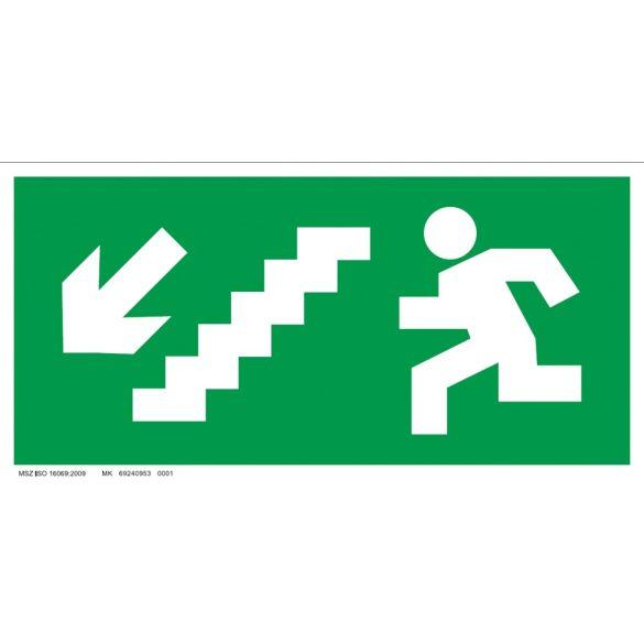 UV Menekülési út - balra le lépcsőn
