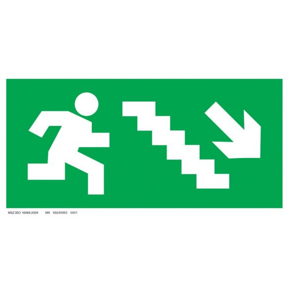 Menekülési út - jobbra le lépcsőn