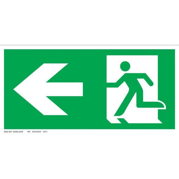 Menekülési út-balra, ajtó jobb oldalon