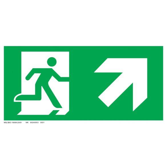 Menekülési út - jobbra fel, ajtó bal oldalon