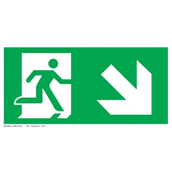 Menekülési út - jobbra le, ajtó bal oldalon