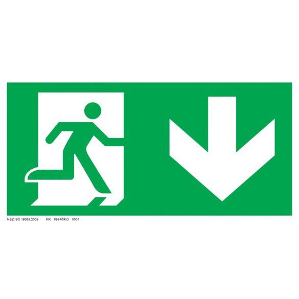 Menekülési út - le, ajtó bal oldalon