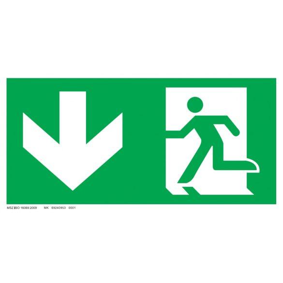 Menekülési út - le, ajtó jobb oldalon