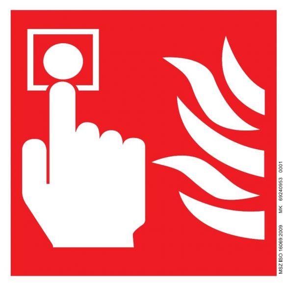 UV Kézi tűzjelző piktogram ISO