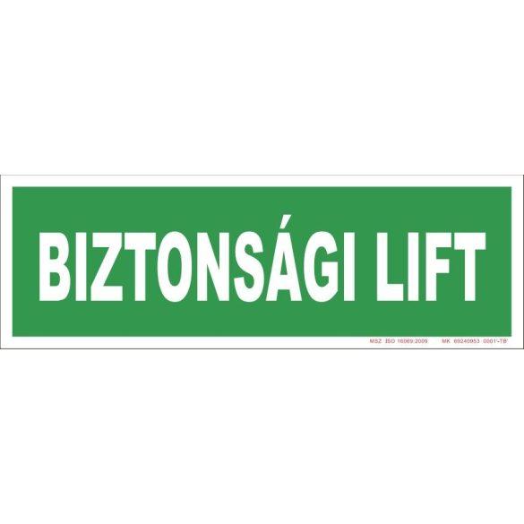 Biztonsági lift