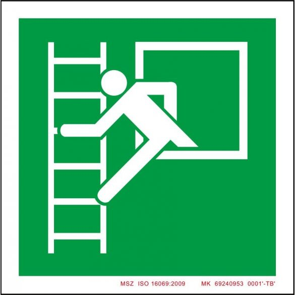 Vészhelyzet ablak menekülési létrával