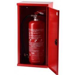 Tűzoltó készülék tároló szekrény lemezajtós, 720x300x250
