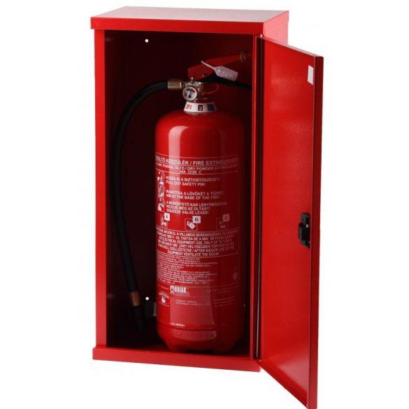 Tűzoltó készülék tároló szekrény lemezajtós, 800x300x250