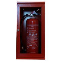 Tűzoltó készülék tároló szekrény üvegajtós, 720x300x250