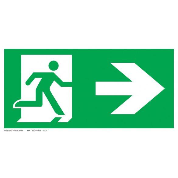 Menekülési út- jobbra, ajtó a bal oldalon