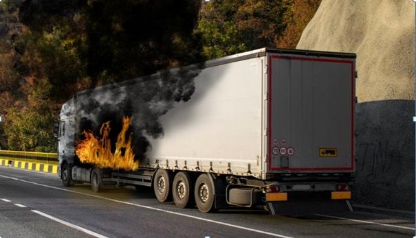 Tehergépkocsik tűz elleni védelme